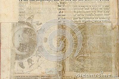 Grungy antique tribal parchment background