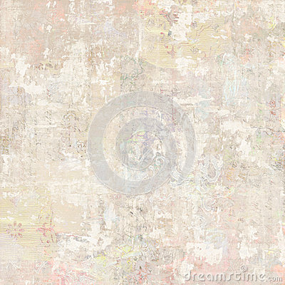 Free Grungy Antique Vintage Floral Wallpaper Collage Background Stock Images - 86348444