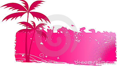 Grungy background with palm trees