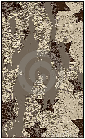 Grungy background with stars