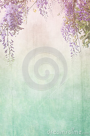 Free Grungy Background With Floral Border Royalty Free Stock Photos - 35026288