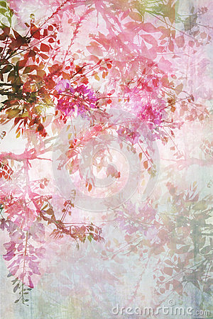 Free Grungy Background With Floral Border Stock Images - 35026334