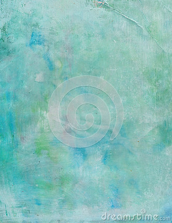 Grungy blue and green painted abstract background