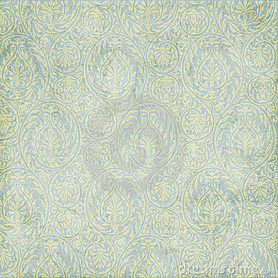 Grungy blue green paisley texture background