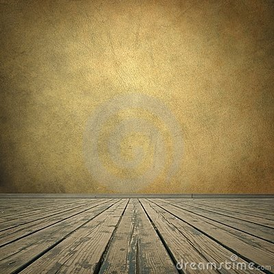 Free Grungy Brown Wall And Wooden Floor Stock Photo - 10814810