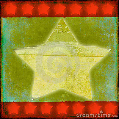 Grungy christmas star