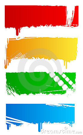 Grungy colored banners