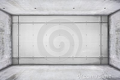 Grungy concrete room