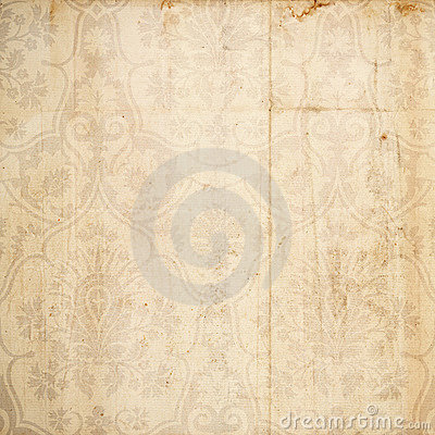 Grungy damask antique brown background