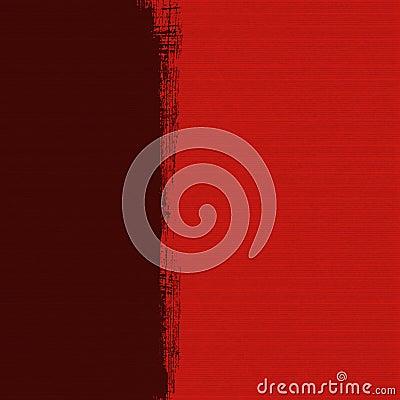 Grungy dark box on red ribbed handmade