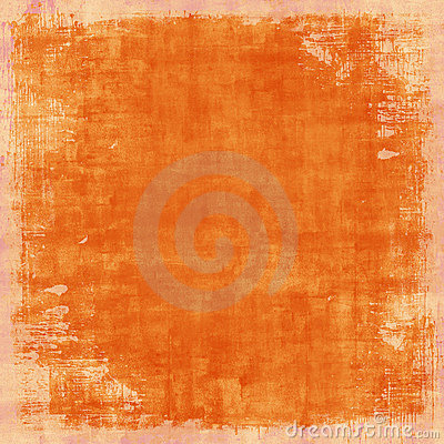 Grungy Distressed Orange Vintage Background