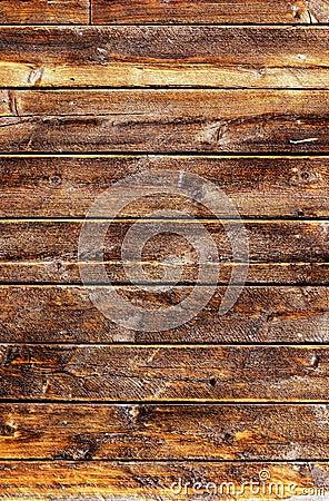 Grungy doorstane houten planken