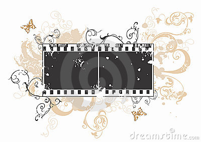 Grungy film frame