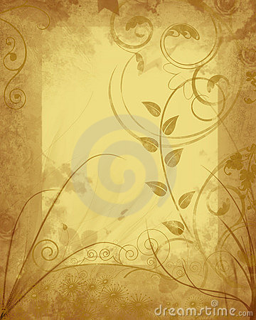 Free Grungy Floral Frame Royalty Free Stock Photo - 3207815