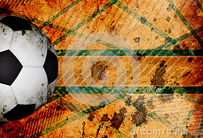 Grungy football background