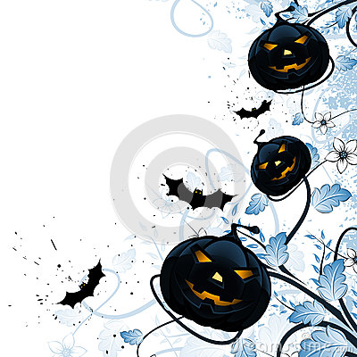 Grungy Halloween Florals