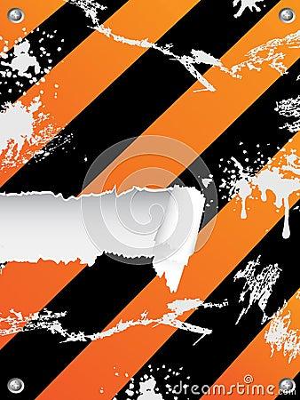 Grungy hazard stripes background