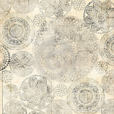 Grungy Lace Doiley Background Design