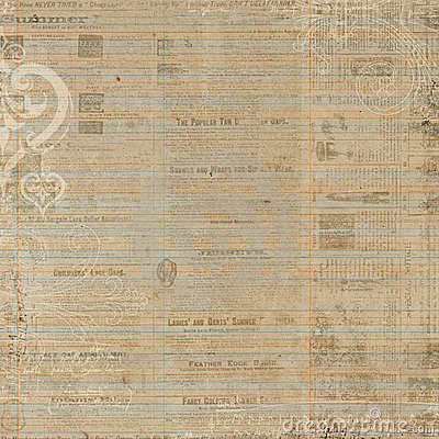 Grungy newspaper antique brown background