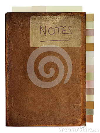Free Grungy Old Notebook With Tabs Royalty Free Stock Photo - 32853595