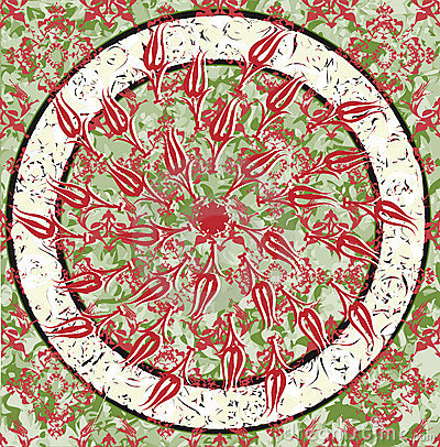 Grungy ottoman design