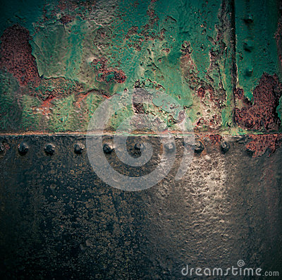 Grungy painted rusty iron texture