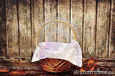 Grungy picnic basket