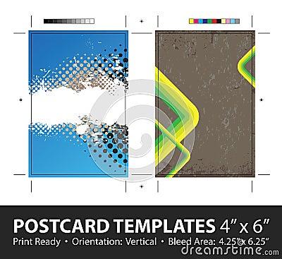 Grungy Postcard Templates