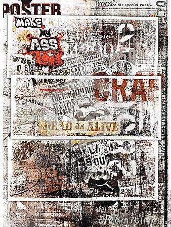 Grungy poster art