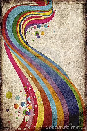 Grungy rainbow