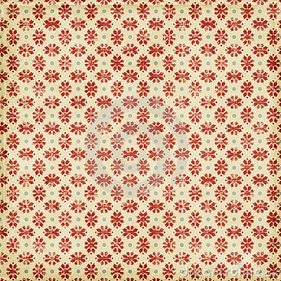 Grungy Red Christmas Snowflake Background