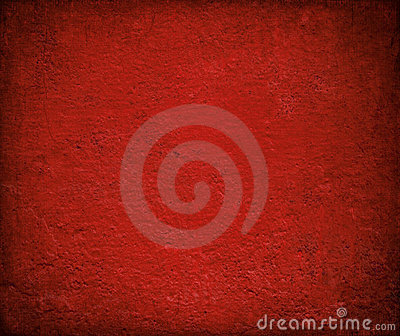 Grungy red gloss painted wall background