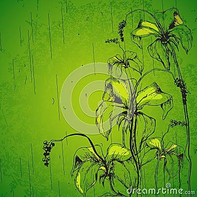 Grungy Retro Flower