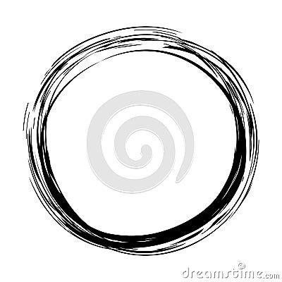Free Grungy Round Ink Circle Stock Photo - 122388220