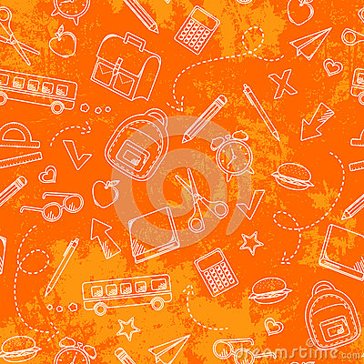 Free Grungy School Pattern Royalty Free Stock Photo - 25253665
