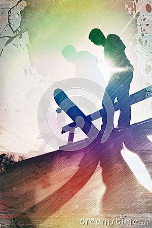 Free Grungy Skateboarder Stock Photo - 17273810