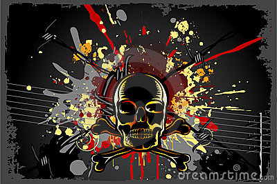 Grungy Skull Background
