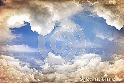 Grungy sky