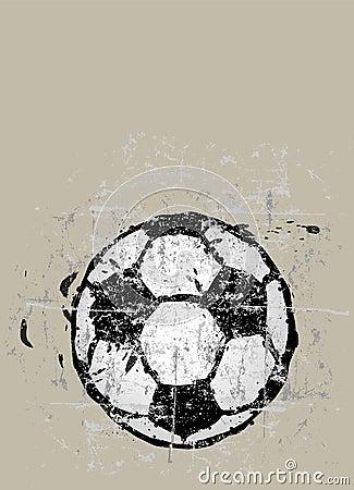 Grungy soccer ball