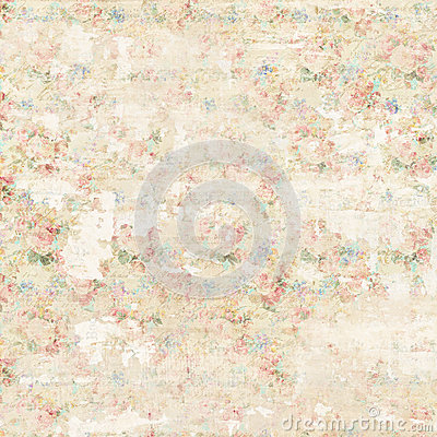 Free Grungy Soft Pastel Abstract Floral Vintage Shabby Chic Distressed Textured Wallpaper Background Royalty Free Stock Images - 87404989