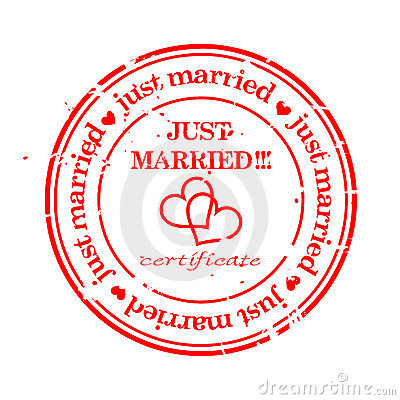 Grungy stamp - just married