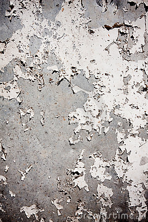 Grungy textured background with peeling wall