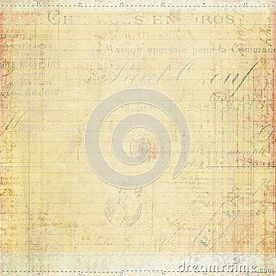 Grungy texturerat papper för antik tappning