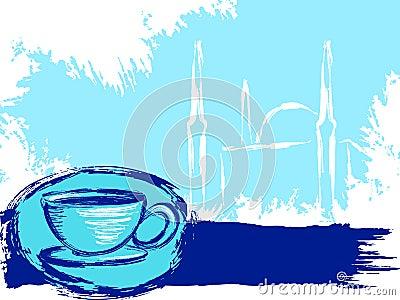 Grungy Turkish coffee background