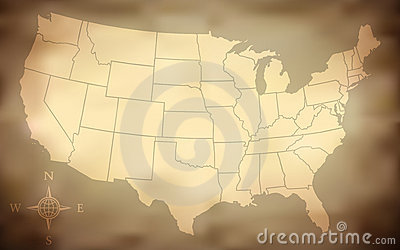 Grungy USA Map