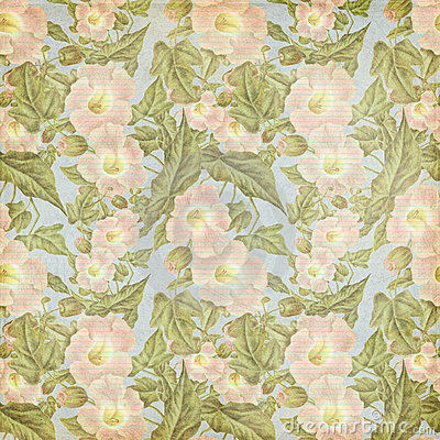 Grungy vintage Antique Pink Flower Pattern