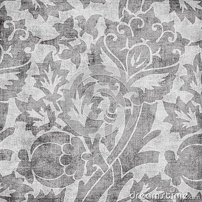 Grungy vintage floral damask scrapbook background