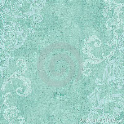 Grungy Vintage flourished floral framed background