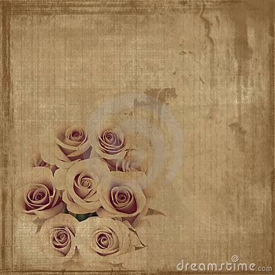 Free Grungy Vintage Roses On Canvas Royalty Free Stock Images - 4441779