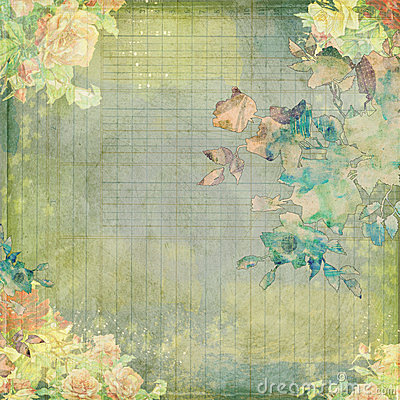 Free Grungy Vintage Shabby Floral Design Royalty Free Stock Photos - 23355418
